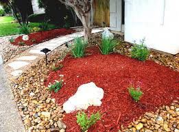 great landscaping rocks red with river stone for small front yard