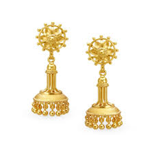 gold jhumka earrings buy tanishq gold jhumka earrings for women 512217jjjaba00 shop