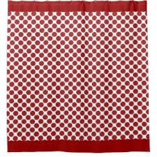 Red Polka Dot Curtains Cherry Red Shower Curtains Zazzle