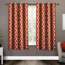 Orange White Curtains 63 Inch Mecca Orange White Moroccan Curtains Panel Pair Set