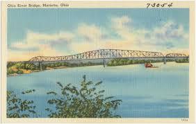 Marietta Ohio Map by Ohio River Bridge Marietta Ohio Digital Commonwealth