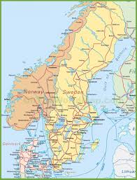 South America Map Countries by Map Of Sweden Norway And Denmark