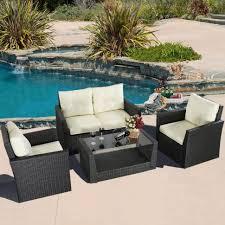 Patio Furniture Rattan Sofas Wonderful Patio Furniture Sets Black Wicker Outdoor