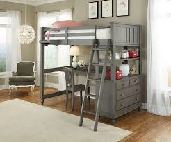 2040 twin size loft bed with desk workstation lakehouse