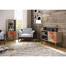 Home Depot Design Center Nyc Manhattan Comfort Dalarna Oak And Multi Color Entertainment Center