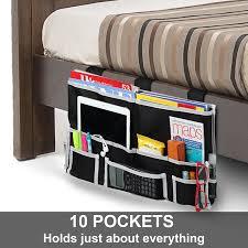 dorm bathroom ideas amazon com fancii 10 pocket bedside caddy hanging storage