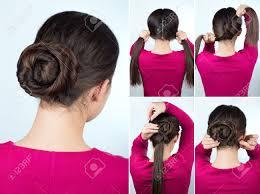 step by step twist hairstyles hair tutorial step by step simple hairstyle twisted bun tutorial