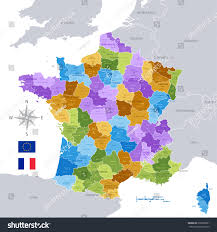 Maps Of France by High Detail Vector Map France Regions Stock Vector 299389901