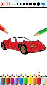 super car coloring book vehicle drawing kids app store