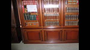 Antique White Bookcase With Doors by Antique Bookshelves With Glass Doors Youtube