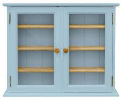 3 door display cabinet buy tfw mottisfont blue display cabinet small 2 glass door