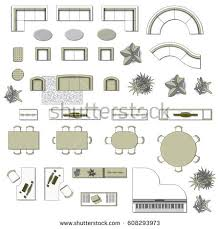 living room floor planner set top view interior icon design stock vector 625491731