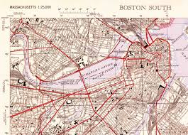 Map Of Boston Ma The Once And Future City