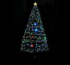 Christmas Tree With Optical Fiber Lights - amazon com 6 u0027 artificial fiber optic w led lights holiday