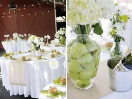 Wedding Reception Vases Wedding Reception Decor Centerpieces Using Fruit Green Apples
