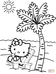 beach coloring pages preschool hello kitty on the beach coloring page preschool for humorous print
