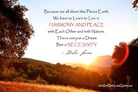 because we all this planet earth we to learn to live