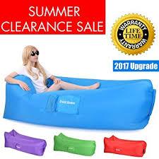 amazon com inflatable air lounger hangout sofa bag 2017 upgrade