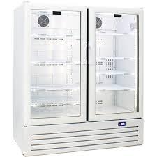 schmick glass 2 door upright short commercial energy saving bar