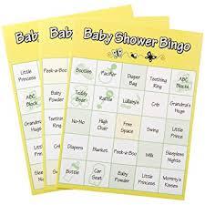 baby shower bingo 24 baby shower bingo cards baby shower bingo