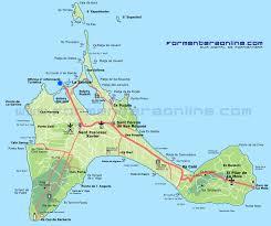 Majorca Spain Map Formentera Mapa Formentery Formentera Map Of Formentera Balearic