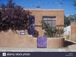 small single storey adobe house in santa fe new mexico in