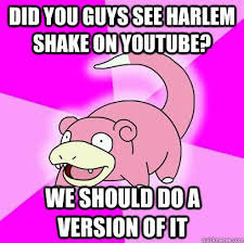 Meme Harlem Shake - did you guys see harlem shake on youtube we should do a version