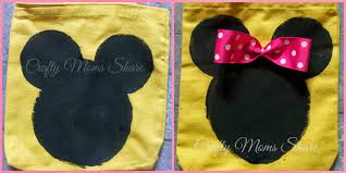 crafty moms share mickey minnie mouse tote bag craft