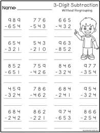subtraction without regrouping worksheets grade 3 3 digit subtraction without regrouping worksheets by learning desk