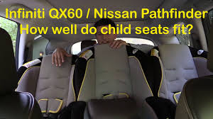 nissan pathfinder seat covers 2014 2015 infiniti qx60 and nissan pathfinder child seat review