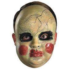 Halloween Baby Doll Costumes Smeary Baby Doll Face Mask Costume Accessory Creepy Scary