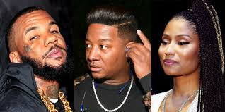 the game has jokes on yung joc nicki minaj chimes in