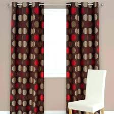 Brown Patterned Curtains Bold Patterned Curtains Lapservis Info