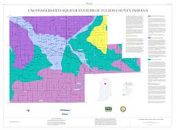 Indiana Counties Map Dnr Aquifer Systems Maps 44 A And 44 B Unconsolidated And