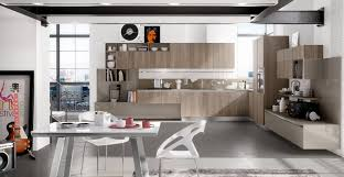 stunning modern industrial kitchen design with matching glossy