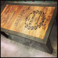 Ouija Board Coffee Table by French Script Coffee Table Industrial Wood And Metal Unique
