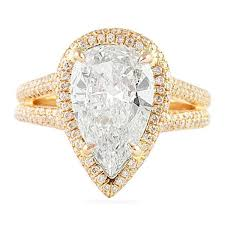 pear shaped gold engagement rings 2 57 ct pear shape gold engagement ring