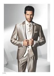 2015 new best design lapel champagne wedding suits for men formal
