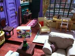 incredibly detailed papercraft model of the apartment from friends