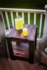 Outdoor Furniture Made From Pallets by Pallet End Table Pallets Repurpose And Decking