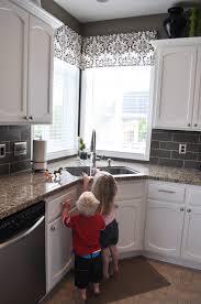 Kitchen Cabinet Valance Kitchen Modern Minimalist Gray Kitchen Alongside Simple Black