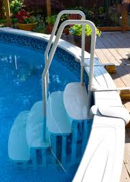 main access easy entry pool steps for aboveground pools par pool
