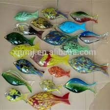 wholesale made decorative blown murano glass fish