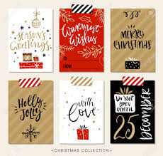 christmas gift tags and cards with calligraphy hand drawn design