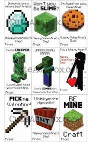 printable minecraft valentines
