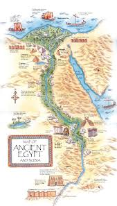 Clemson University Map Map Of Important Features And Landmarks In Ancient Egypt Ancient