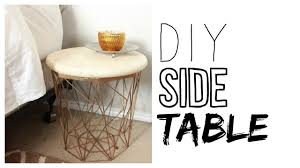Drum Accent Table by Diy Side Table How To Make A Night Stand Youtube