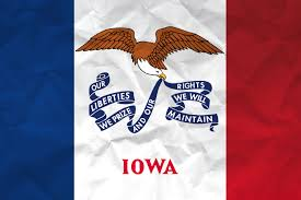 Bald Eagle On Flag Flag Of Iowa With Paper Texture Download It For Free