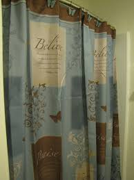 found this bathroom set at walmart and fell in love with it butterfly blessings shower curtain trust serve praise believe blue brn
