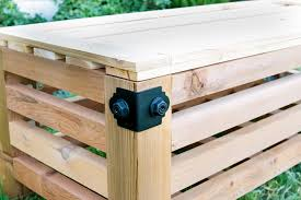 Wood Outdoor Storage Bench Diy Outdoor Storage Ottoman